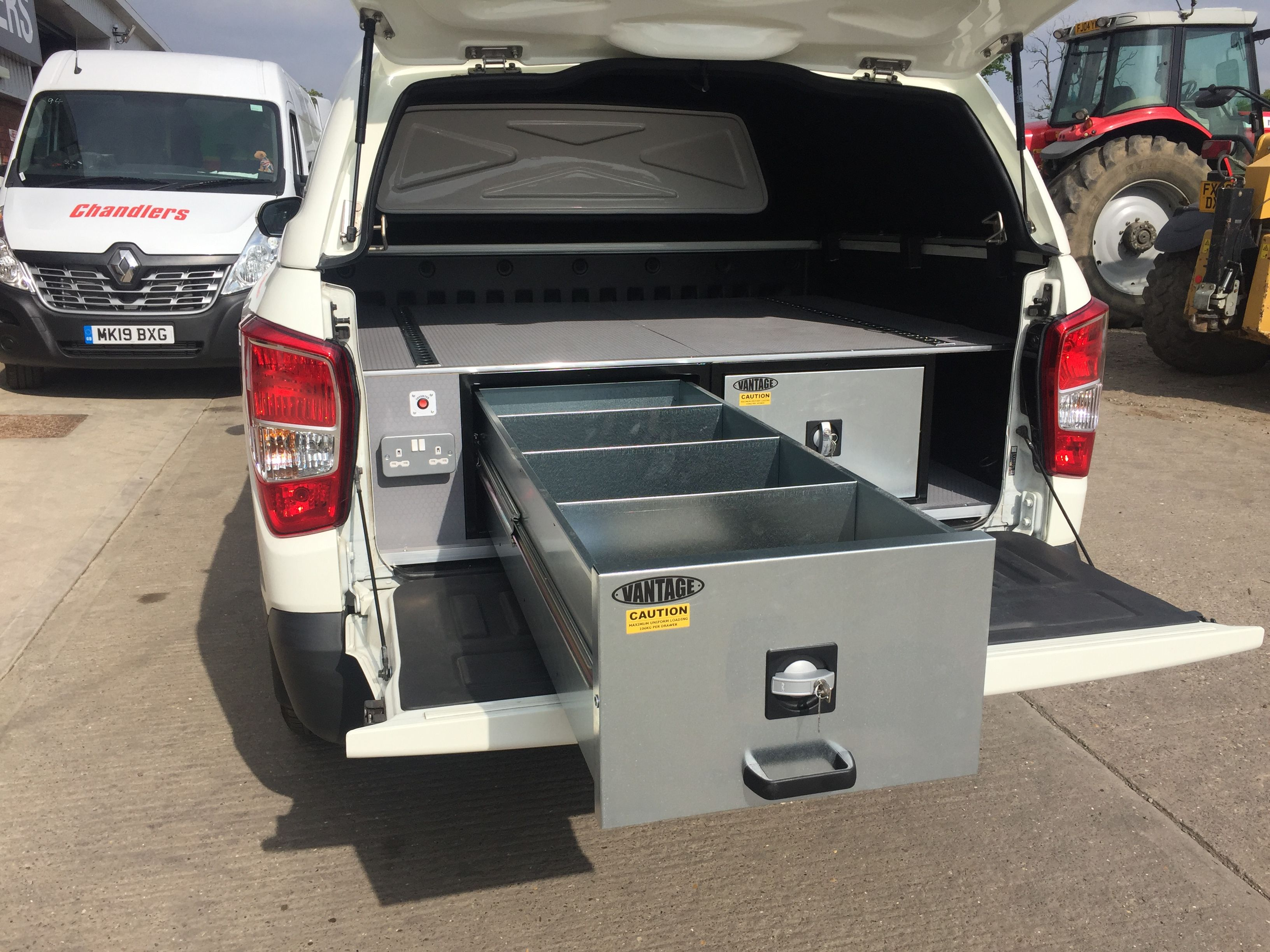 SsangYong Musso Rebel with  Commercial Hard Top & Vantage 2 Drawer System