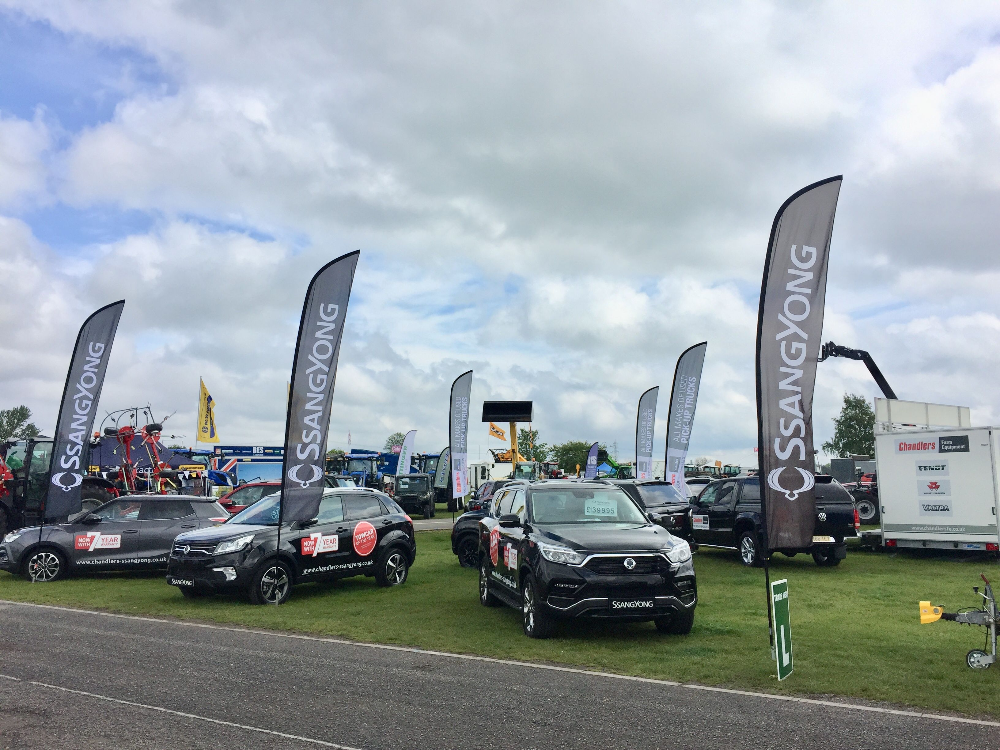 Chandlers SsangYong at the Nottingham County Show 11/12 May 2019